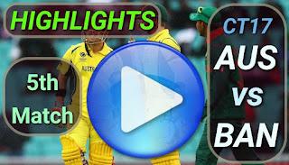 AUS vs BAN 5th Match