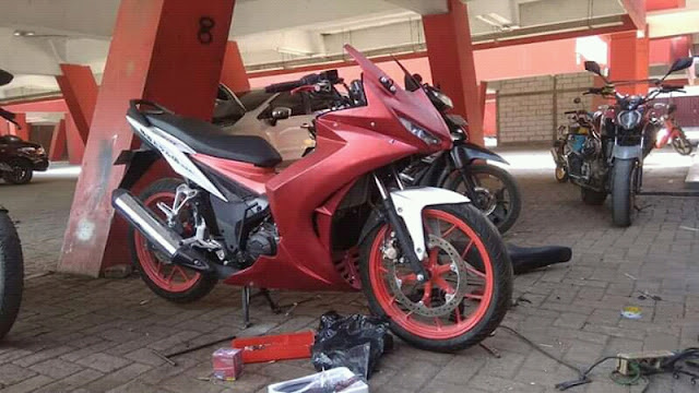 Honda Sonic 150R Modif Full Fairing