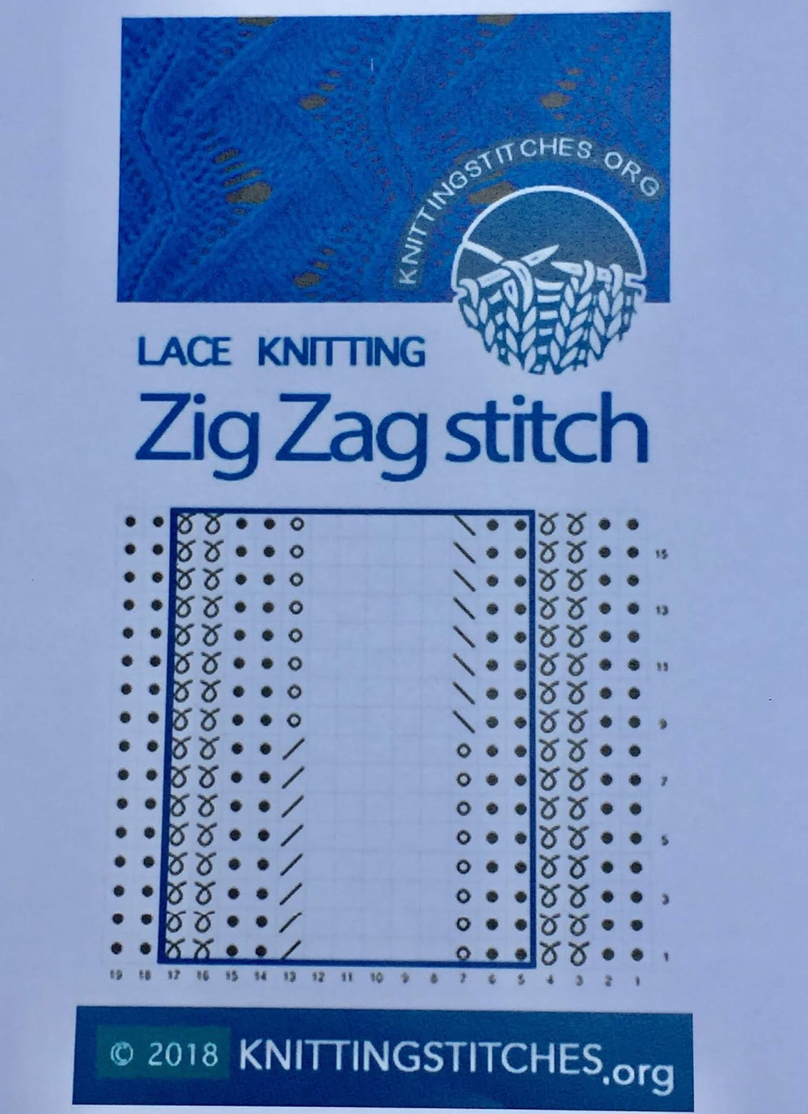 Knitting Stitches 2018 - Zig Zag stitch pattern
