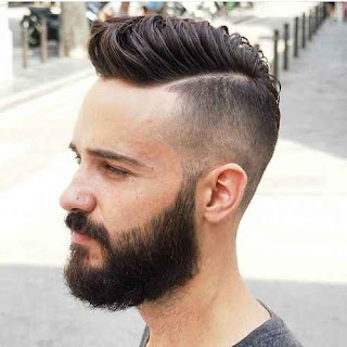 Shaved Line Side Fade Hairstyle