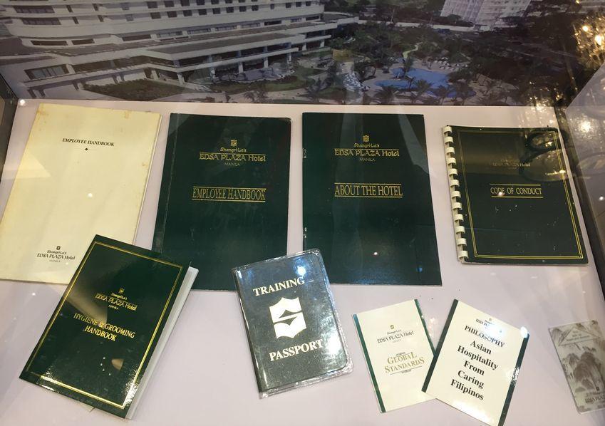 Old employee handbooks of EDSA Shangri-La Hotel