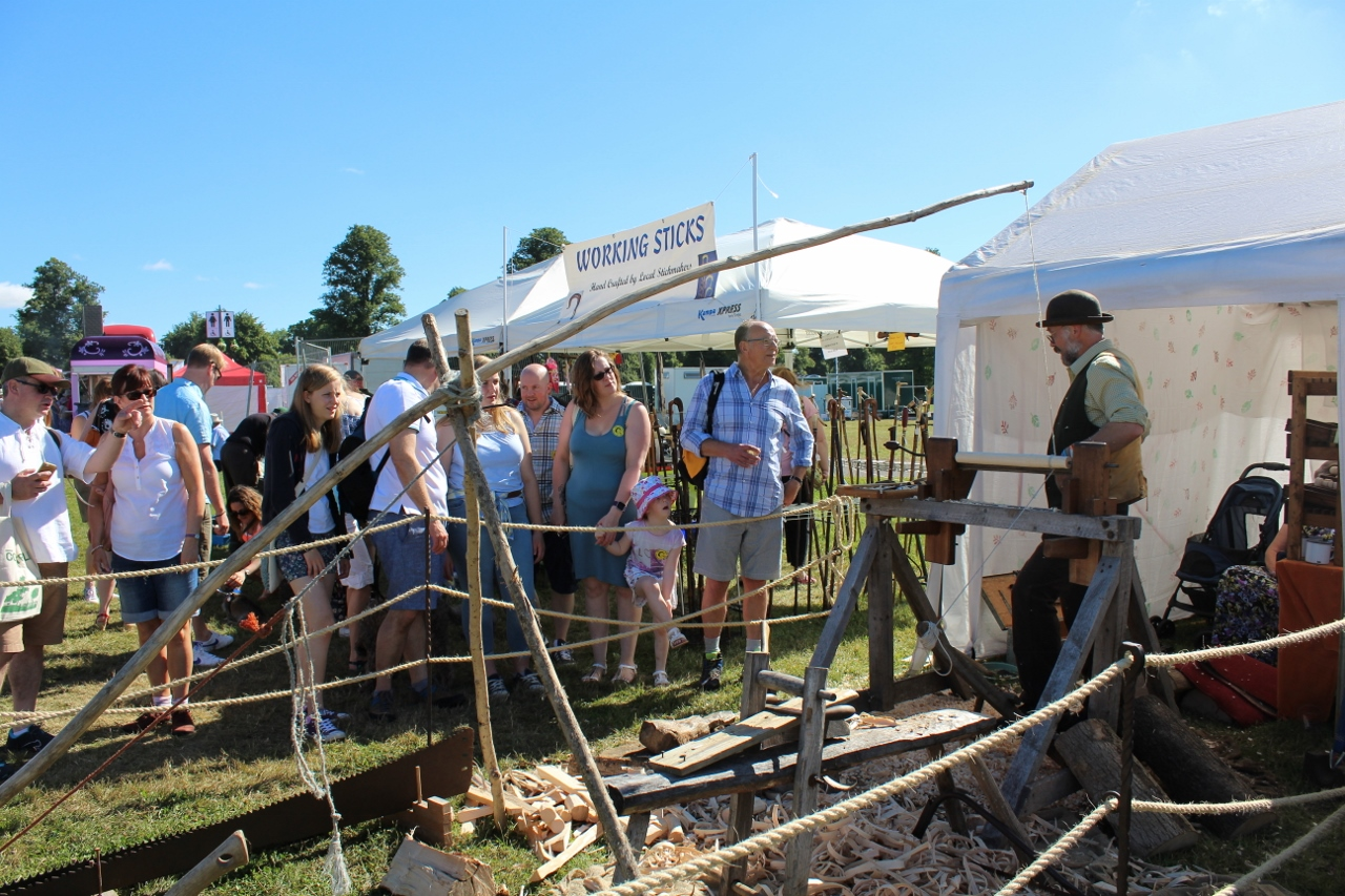 Woodwork display at Countryfile Live