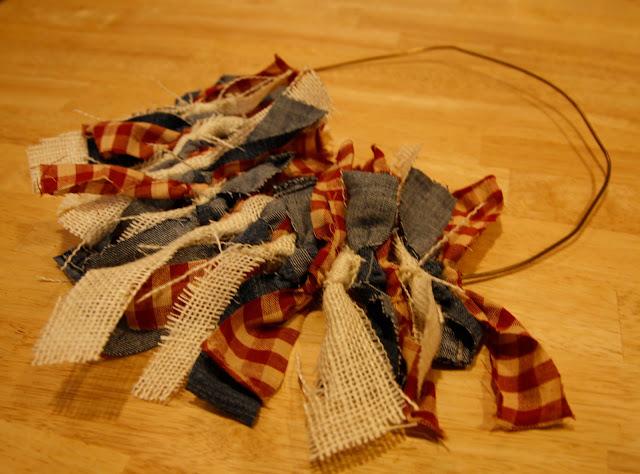 Making a rag wreath - Beyond the Aisle
