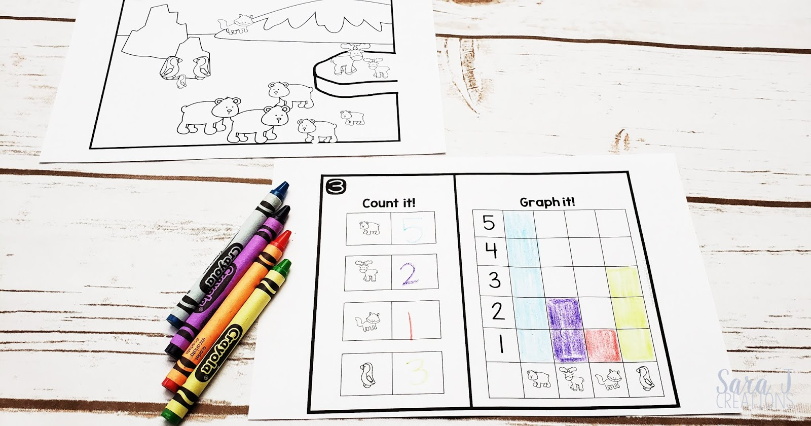 Download your FREE Christmas and winter count and graph activities. The perfect addition to your preschool or kindergarten math lesson!