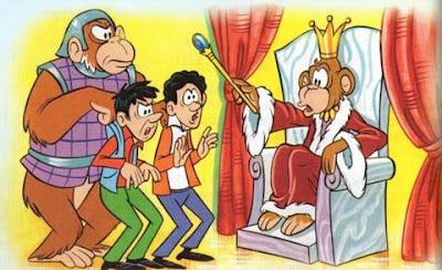 fabula los monos y los dos viajeros