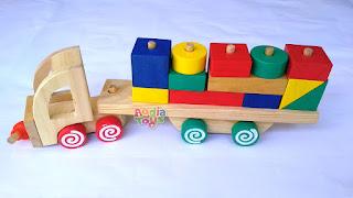 Balok Kontainer New Mainan Kayuku Agdia Toys