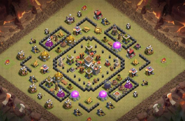 town hall 8 trophy base layout