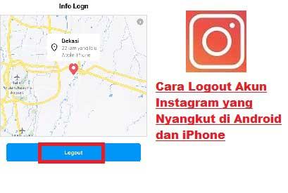 Cara logout Akun IG yang Nyangkut di Instagram Orang Lain