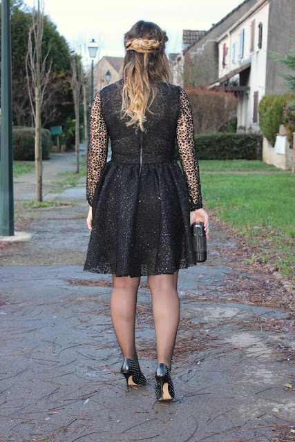 robe scintillante pour les fêtes, Maje, look du jour, les petites bulles de ma vie