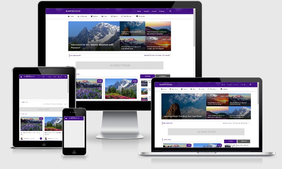 Download Blanter Violet Premium Material Fast Loading Gratis Terbaru