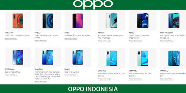 Daftar HP OPPO Resmi di Indonesia