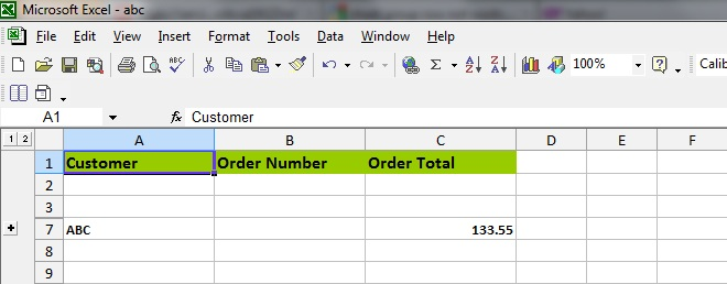Programmers Sample Guide: Apache POI Excel Row Group