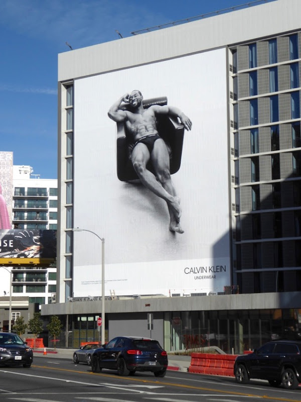 Calvin Klein Underwear Trevante Rhodes billboard Sunset Strip