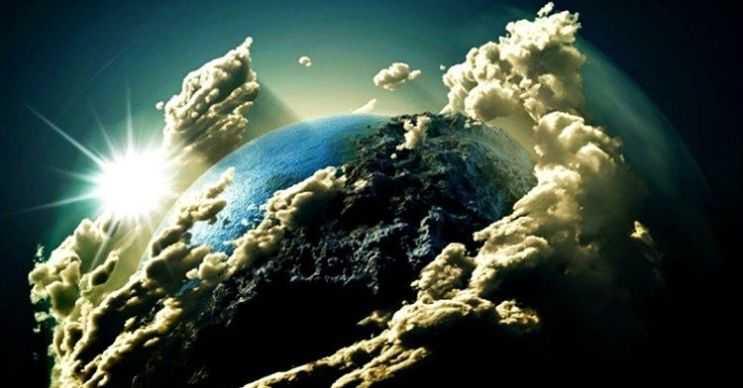 Yerçekimsel bozulma etkisi nedeniyle yıldızlar donuklaşır, Dünya'yı sıcak bir toz ve gaz bulutu sarardı.