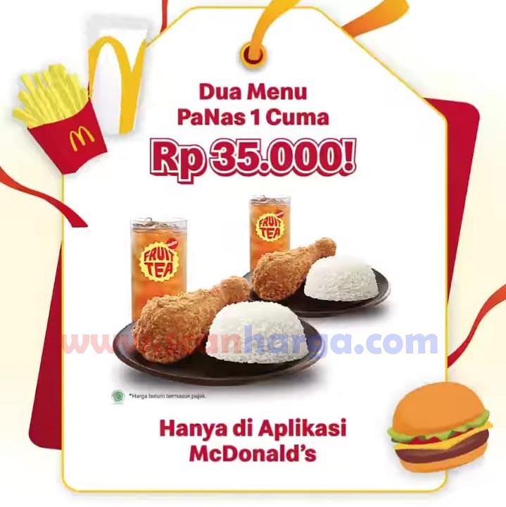 McDonalds Promo Dua Menu Panas 1 cuma Rp 35.000!