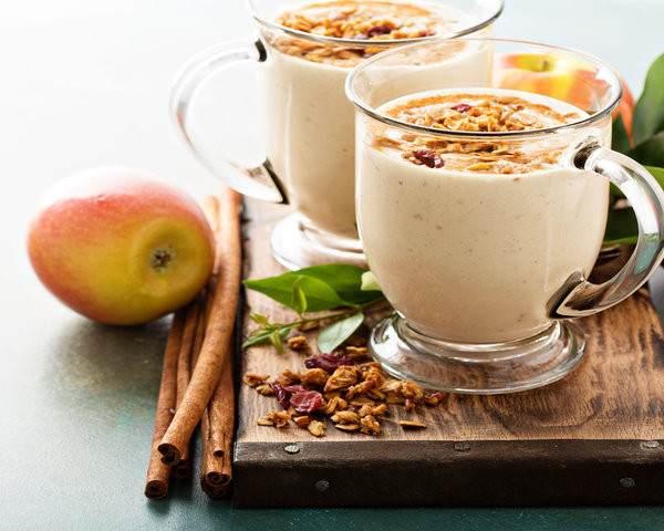 Granola and fruit smoothie homemade refreshing recipe