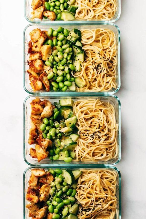 15 Minute Meal Prep : Sesame Noodle Bowls
