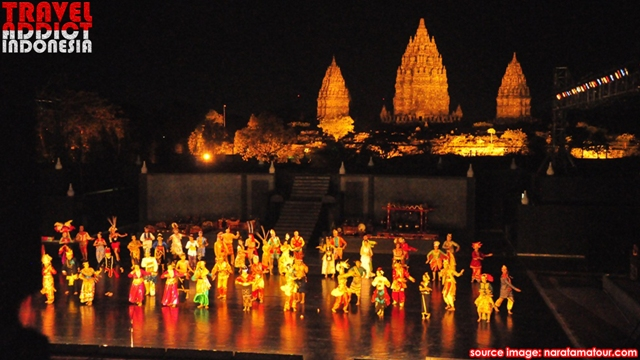legend of Roro Jonggrang, Prambanan Temple, recognized by UNESCO as one of the world heritage