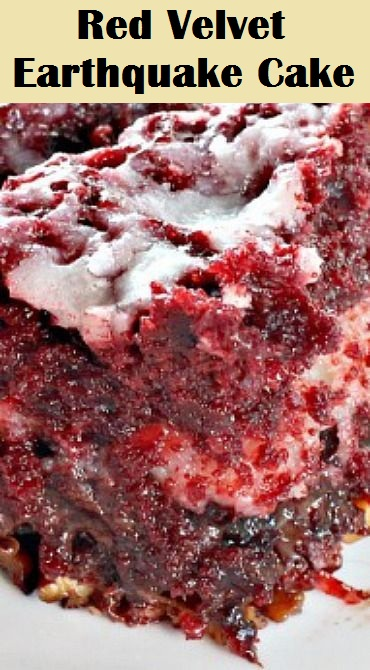 Red Velvet Earthquake Cake