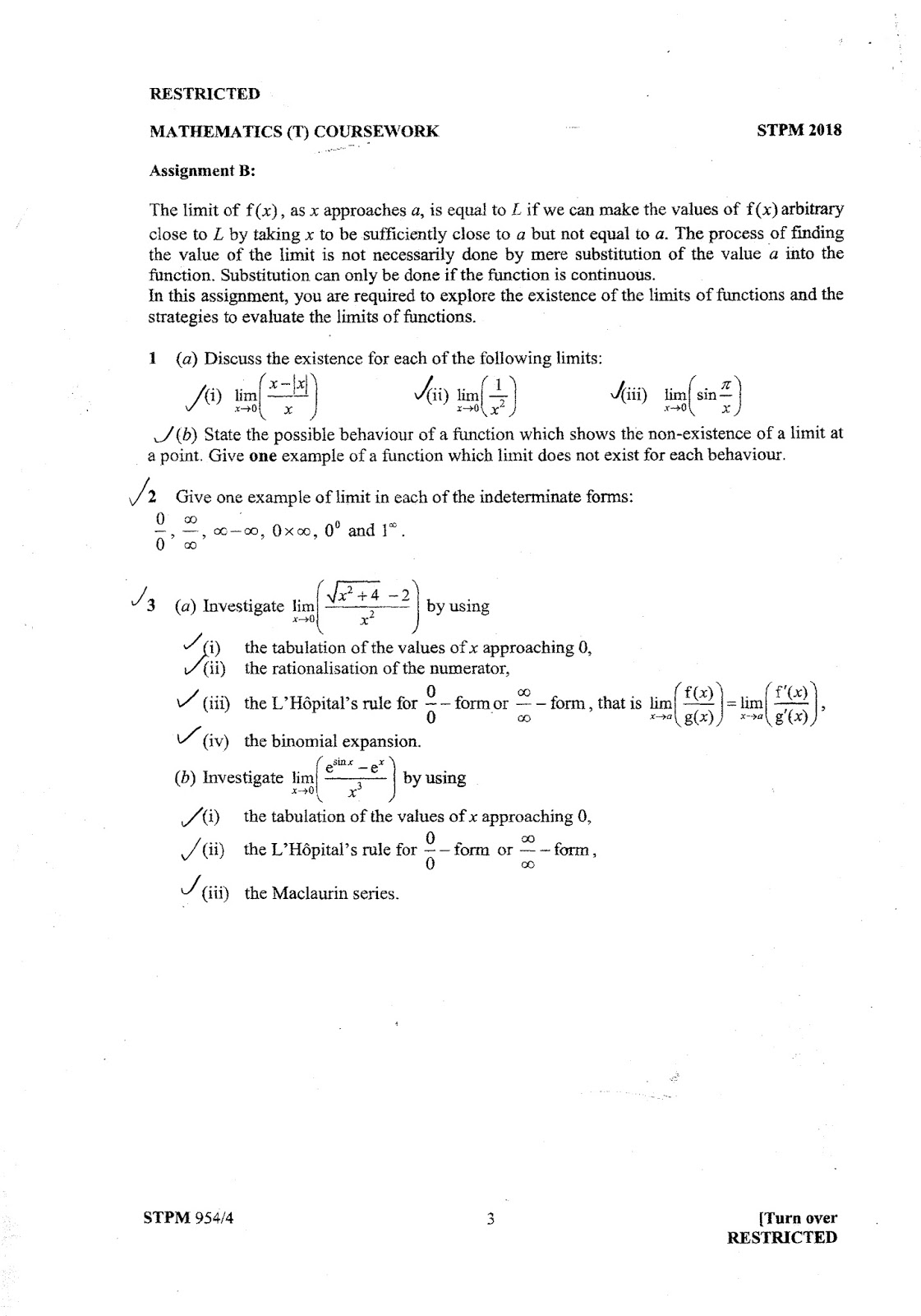 math t coursework stpm 2017 sem 2