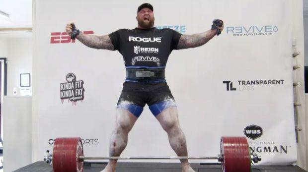New World Record 501kg Deadlift Breaks By Game Of Thrones Actor Hafthor Bjornsson