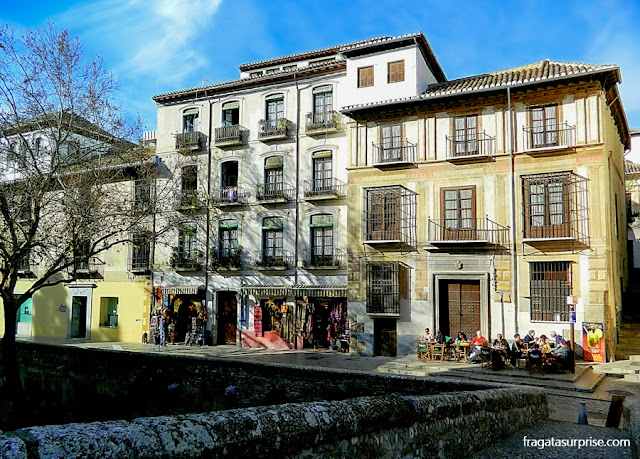 Granada, Andaluzia - Ponte Cabrera, na Carrera del Darro