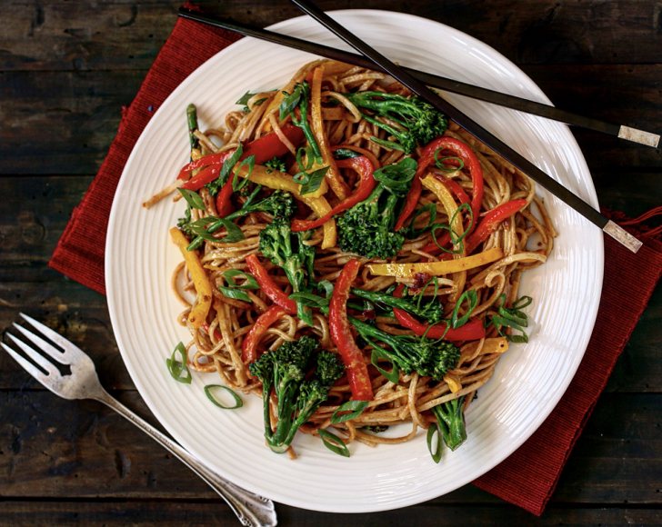 PEANUT AND BROCCOLI NOODLE STIR-FRY