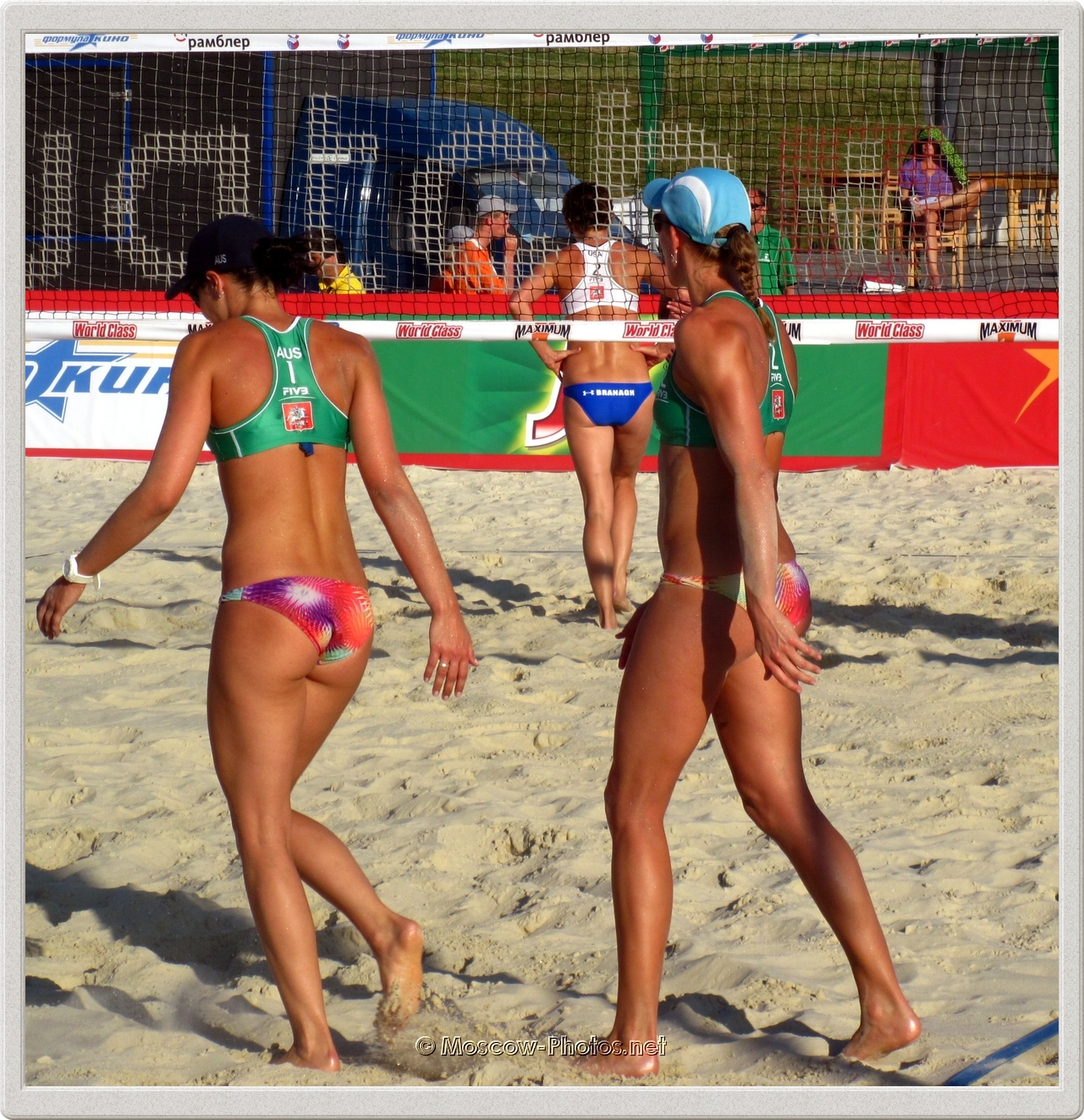 Beach Volleyball Players Becchara Palmer &  Louise Bawden
