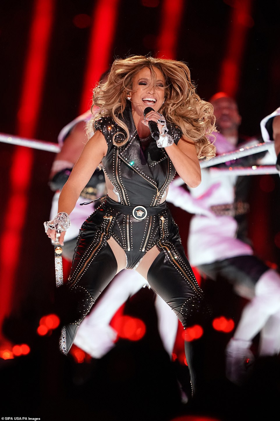 Jennifer Lopez performs during the 2020 Super Bowl on Sunday