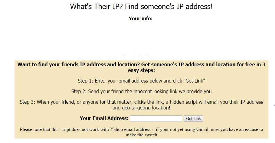 how to use someones ip address to find their location