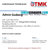 Karir Surabaya Terbaru di PT. Dwi Tunggal Mulia Kimia Oktober 2019