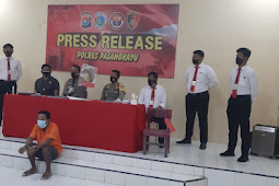 Polres Pasangkayu Release Pelaku Pembobol Rumah Disaat Hari Ied.