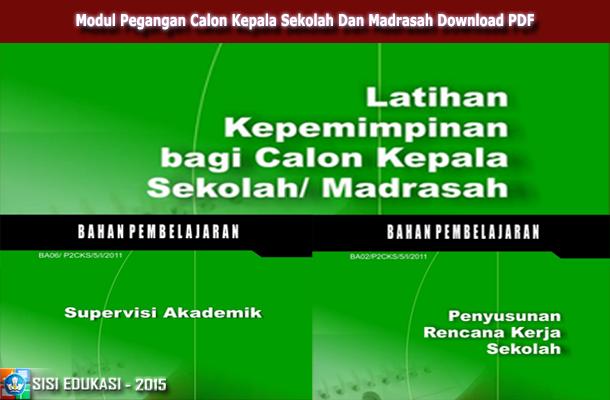 Modul Pegangan Calon Kepala Sekolah dan Madrasah Download PDF