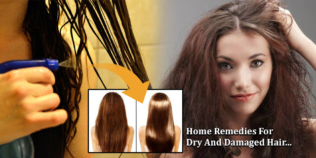 Home Remedies For Dry And Damaged Hair - Get Shiny Soft Hair Naturally