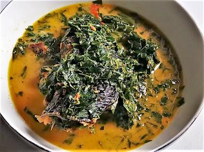 Makanan Melayu Pekanbaru Riau Gulai Ikan Salai Pucuk Ubi