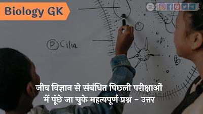 Biology GK In Hindi 2021
