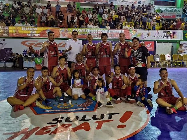 Kandaskan Tim Basket Pemkot Tomohon, Tim Basket Pemprov Sulut Jawara di Ajang Turnamen ODSK Basketball Competition 2019