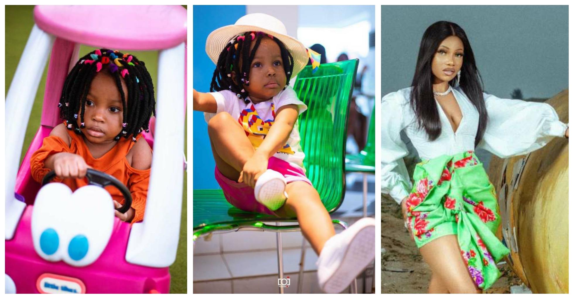 [Video]: Tacha Akide celebrates birthday of rumoured daughter as she clocks 3