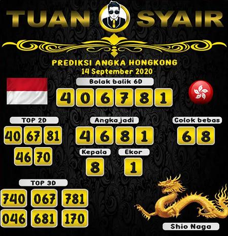 Prediksi Tuan Syair HK Senin 14 September 2020