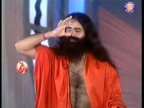 Baba Ramdev doing Pranayama