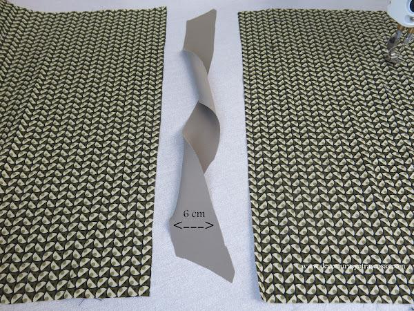 costura lateral con adorno