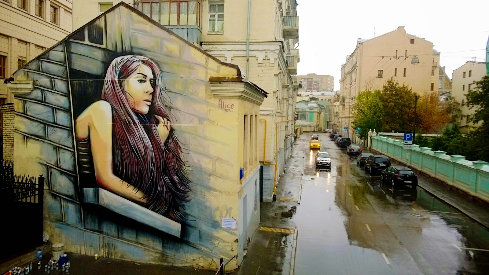 Rome-based Alice spent the last week in Moscow, Russia where she was invited to work herm magic for the MOST street art Festival.