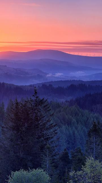 Wallpaper HD Landscape Pink Sunset Sky