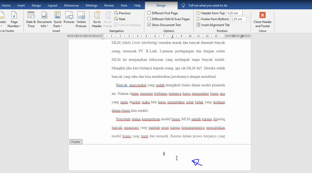 Cara Membuat Nomor Halaman Makalah di MS Word - Mediasiana ...