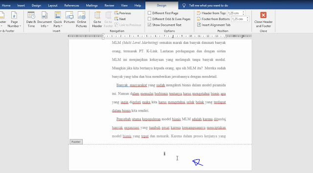 Cara Membuat Nomor Halaman Makalah di MS Word