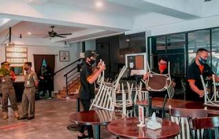 Polisi segel Ratusan Perkantoran dan Restoran