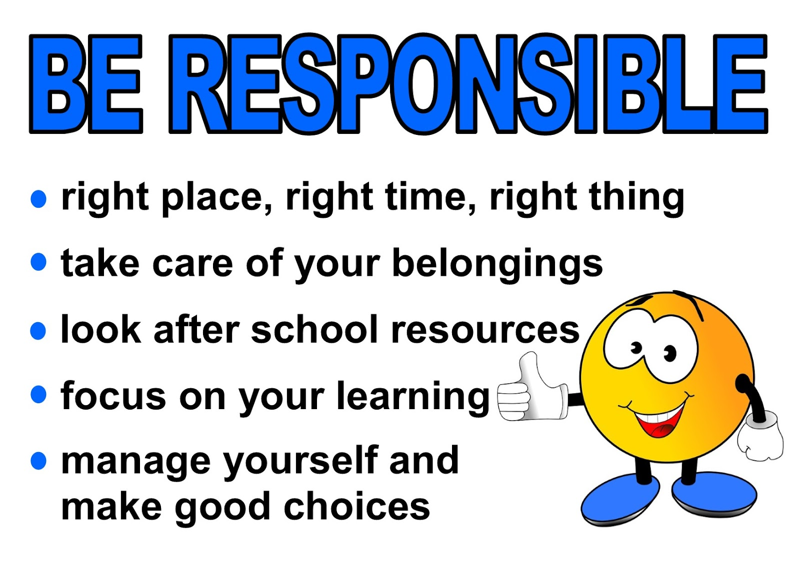 responsibility in school The responsibility of the school according to the curriculum, the education act, and the anti-discrimination act, the school has a responsibility to ensure that no child is harassed or discriminated against in school.