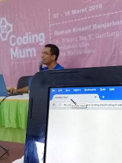 Desain website coding ibu