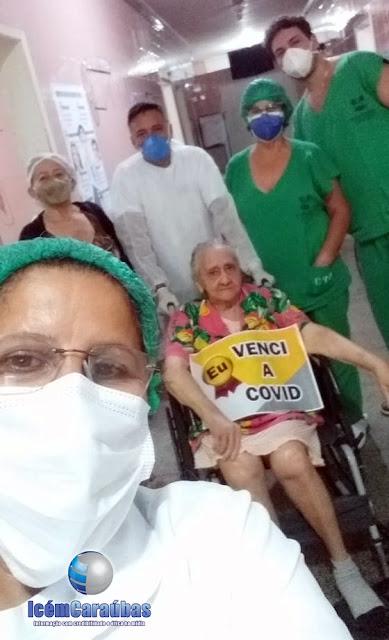 Exemplo de superação! Caraubense de 90 anos vence a Covid 19 e recebe alta do Hospital de Caraúbas