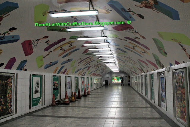Pedestrian tunnel below Paseo de Roxas, Makati, Manila, Philippines